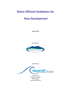 Water Efficient Guidelines for New Development