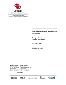 Risk Classification and Health Insurance