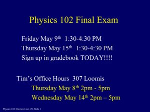 Physics 102 Final Exam