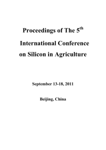 Proceedings of The 5th International Conference on Silicon in