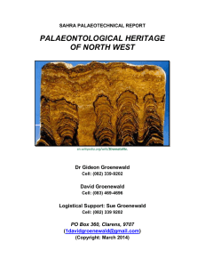 palaeontological heritage of north west
