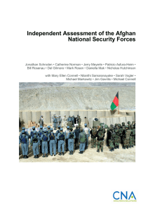 Independent Assessment of the Afghan National Security