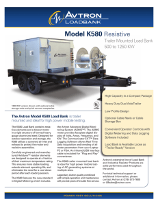 Model K580 Resistive - Simply Reliable Power