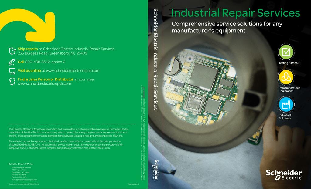Industrial Repair Services - Schneider Electric Repair