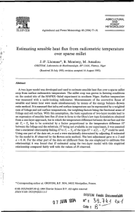 Estimating sensible heat flux from radiometric temperature over