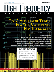 High Frequency Electronics — November 2008 Online Edition