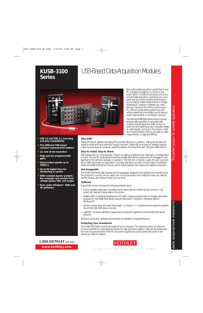 KEITHLEY KUSB 3100 DRIVERS PC