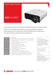 the WUX400ST product brochure