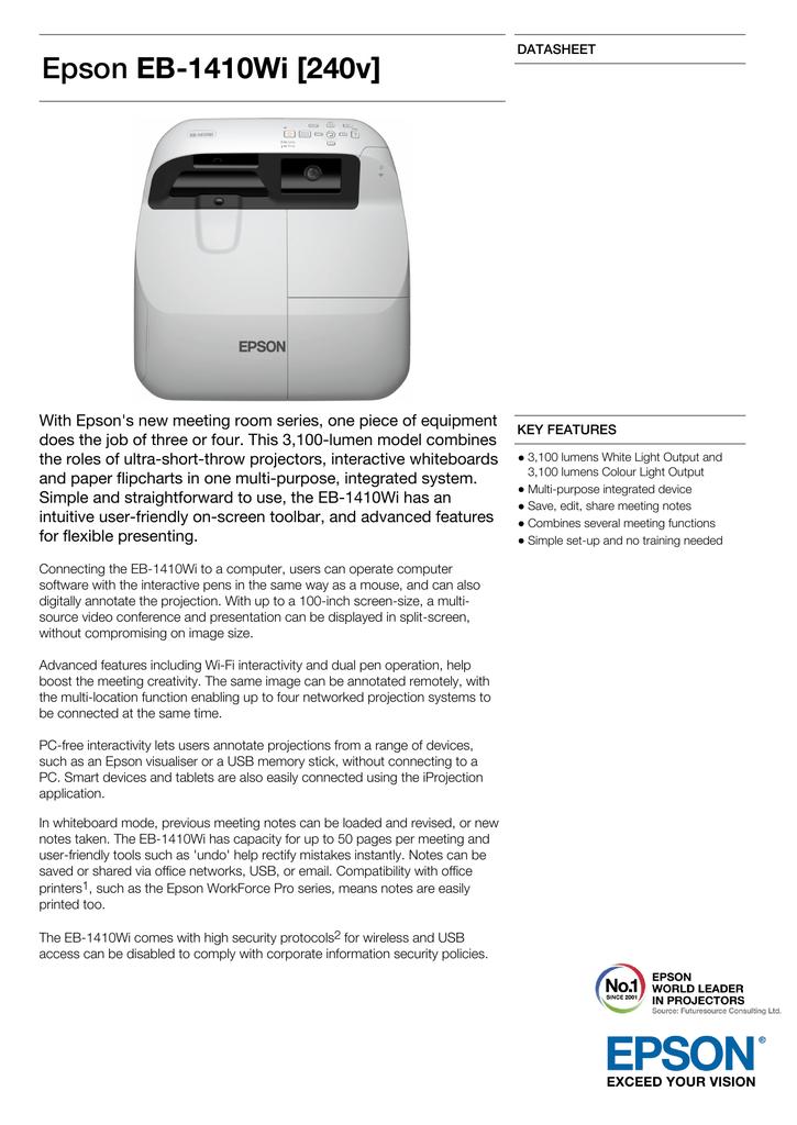 EB 1410wi interactive projector
