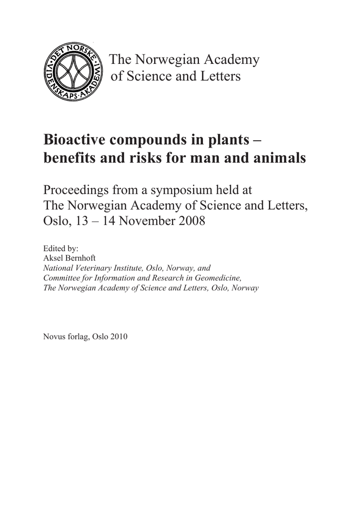 A Brief Review On Bioactive Compounds In Plants
