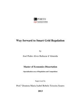 Way forward to Smart Grid Regulation
