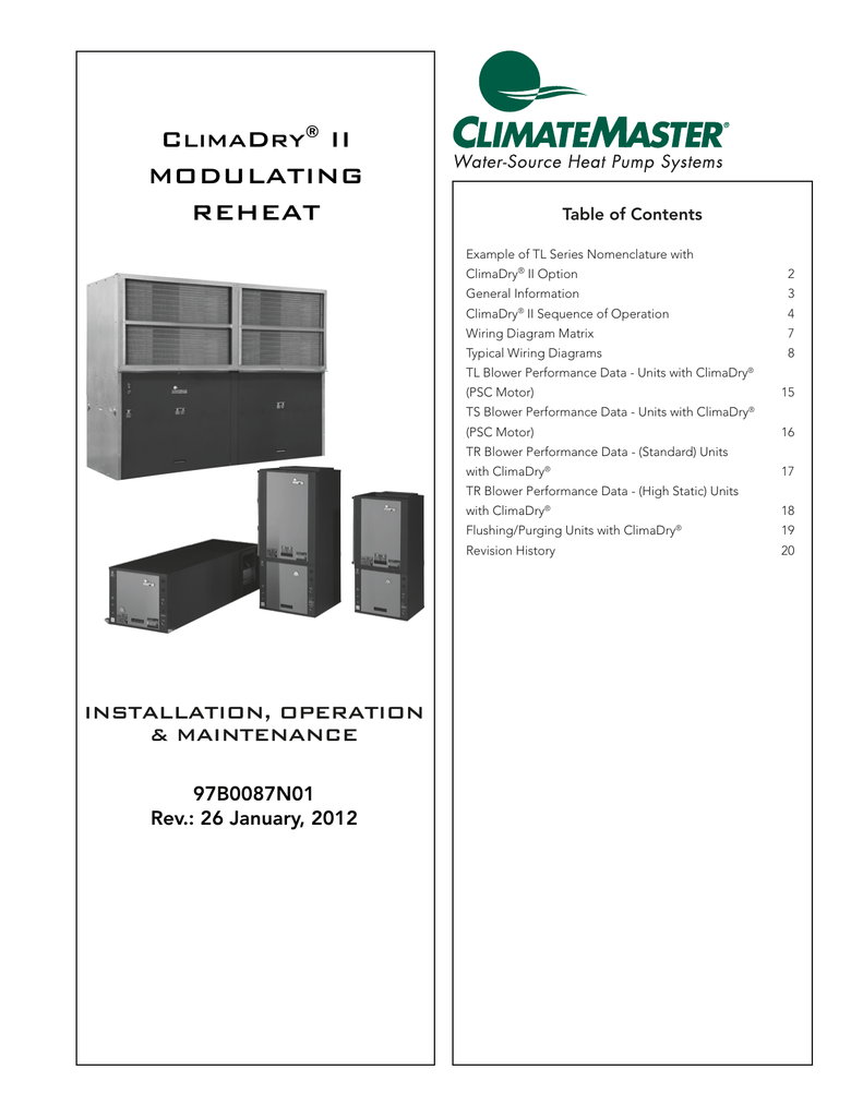Climadry Ii Modulating Reheat Typical Wiring Diagram Data