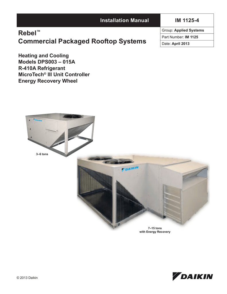 Rebel® Commercial Packaged Rooftop Systems on