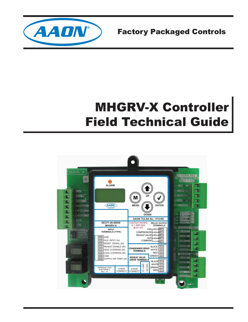 MHGRV-X Controller Field Technical Guide on
