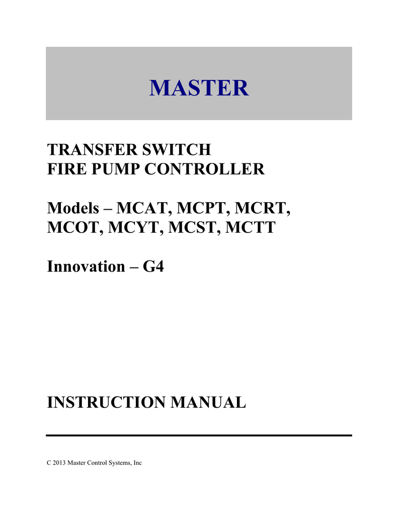 Transfer Switch Master Control Systems Inc Touchmaster Delta Wiring Diagram