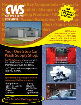 PDF Car Wash Supply 2012 Catalog