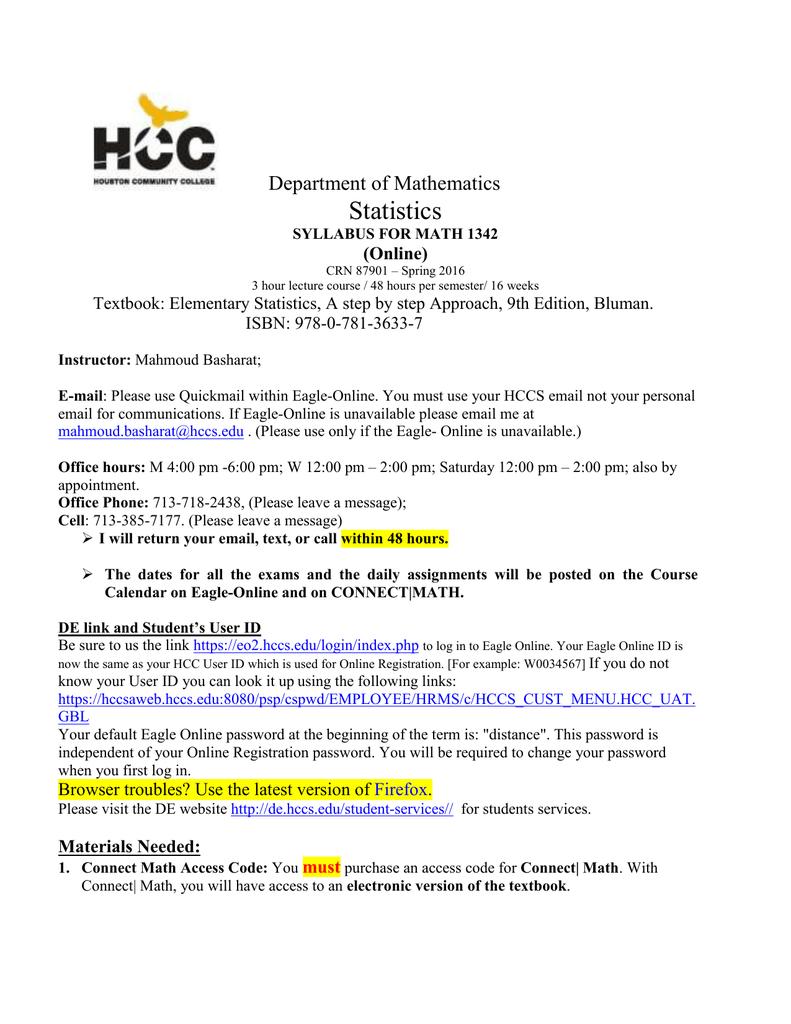 Statistics - HCC Learning Web
