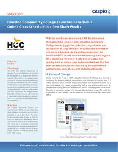 Houston Community College Launches Searchable Online