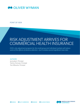 risk adjustment arrives for commercial health