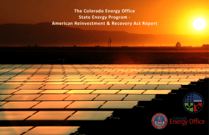 The Colorado Energy Office State Energy Program