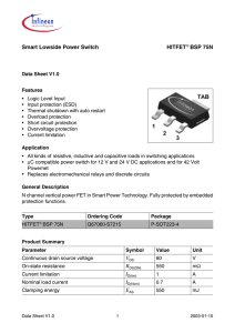 Smart Lowside Power Switch HITFET BSP 75N