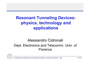 Resonant Tunneling Devices: physics, technology and applications