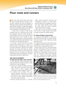 Floor mats and runners - National Safety Council