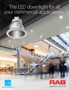 The LED downlight for all your commercial