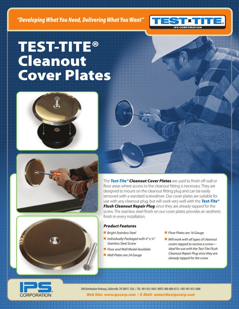 TEST-TITE® Cleanout Cover Plates