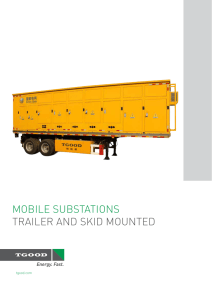 mobile substations trailer and skid mounted