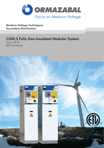 CGM.3 Fully Gas-Insulated Modular System