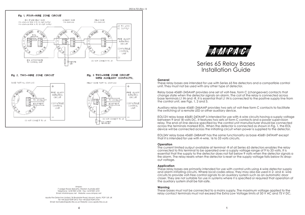 Apollo Series 65 Relay Base Wiring Diagram