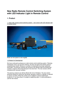 New Radio Remote Control Switching System with LED Indicator