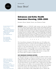 Entrances and Exits: Health Insurance Churning, 1998–2000