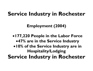 Service Industry in Rochester Service Industry in Rochester