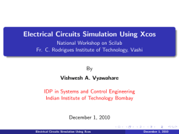 Electrical Circuits Simulation Using Xcos