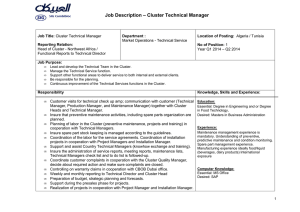 Cluster Technical Manager_Northwest Africa