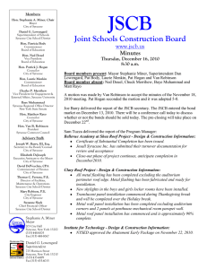 Minutes - Joint Schools Construction Board