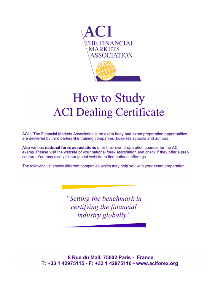 aci dealing certificate how to study guide rh studylib net Chinese Study Certificate Certificate Request for Letter Study