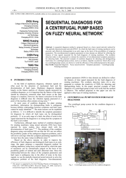 sequential diagnosis for a centrifugal pump based on fuzzy neural
