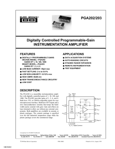 Digitally Controlled Programmable