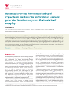 Automatic remote home monitoring of implantable