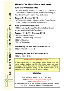 Newsletter 290516 - Hall Green United Community Church