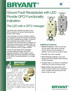 Ground Fault Receptacles with LED Provide GFCI