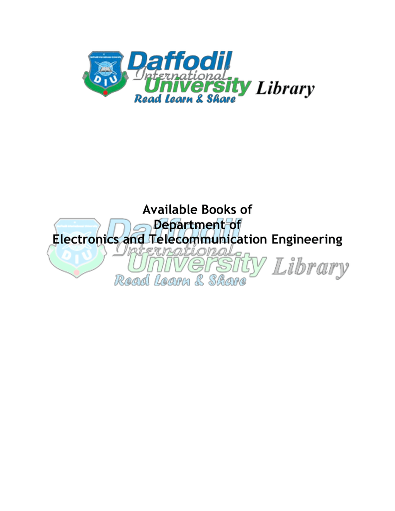 Available Books Of Department Electronics And Electronic Device Circuit Jb Gupta