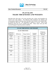 flat glass trade thicknesses and weights