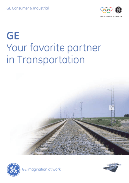 GE Your favorite partner in Transportation