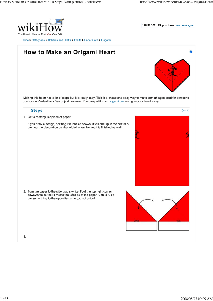 How to Make an Origami Heart: 15 Steps (with Pictures) - wikiHow | 1024x724