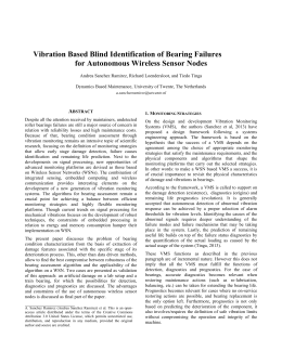 Vibration Based Blind Identification of Bearing Failures for
