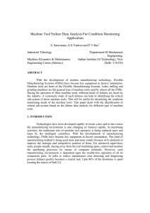 Machine Tool Failure Data Analysis For Condition Monitoring